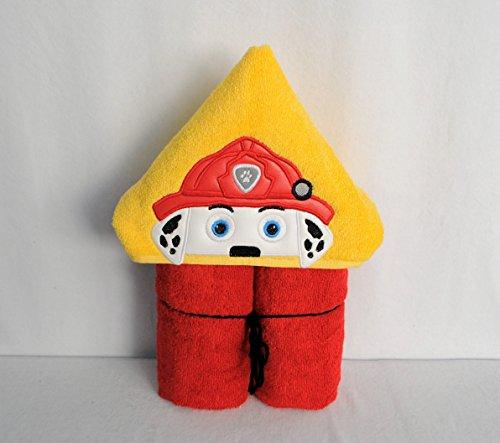 Fire Pup Hooded Bath Towel - Baby, Child, Tween (Pups Towel)