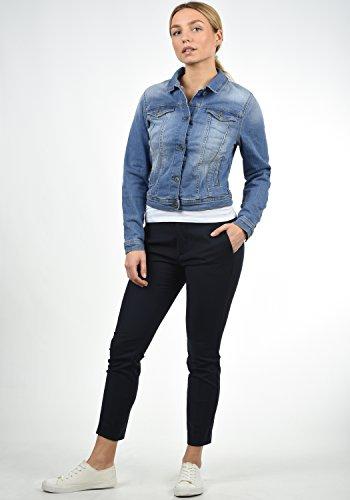 avec en Col Blouson Jeans She Light Jeanie Femme Jean Veste pour Extensible Droit Blend 19044 Blue Htzqvx