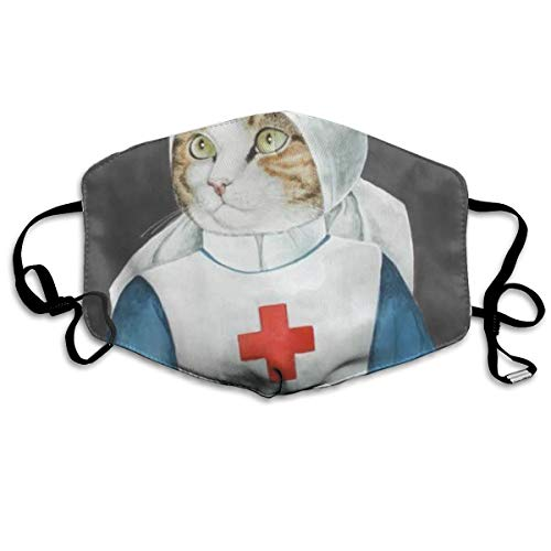 Florence Nightingale Cat Nurse Anti Dust Half Face Mouth Cover Respirator Dustproof Anti-Bacterial Washable Reusable Comfy Germ Wind Protective Breath Windproof Mask