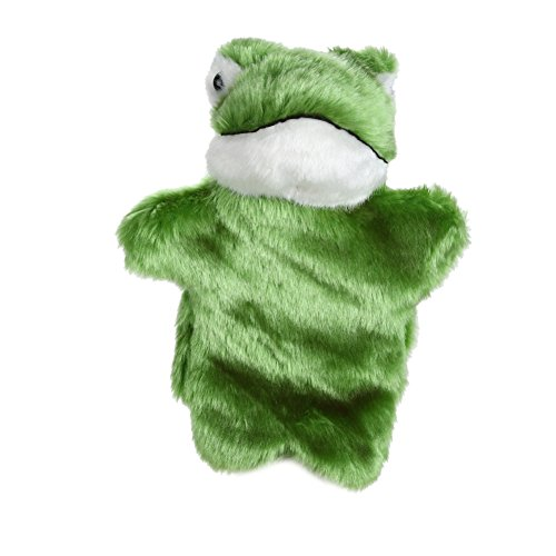 chinatera Cute Frog Hand Puppet Baby Kids Child Educational Soft Doll Plush Toy (Dark Green) - Soft Puppet Frog