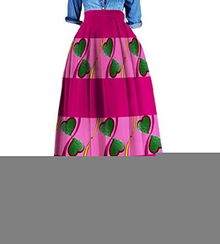 Womens Highwaist Plus Size Dashiki Africa Fashion Long Skirt 8 4XL by Doufine--women clothes
