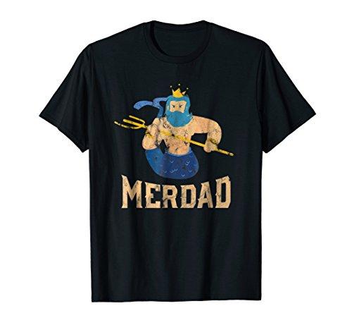 Mens Merdad Costume - Mermaid Halloween Costume - Halloween Shirt Large (Present Halloween Costume Ideas)