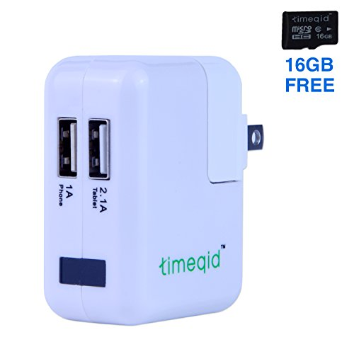 Hidden Camera Charger by Timeqid | HD 1080p Usb Hidden Camera – WiFi Nanny Cameras – iPhone Android