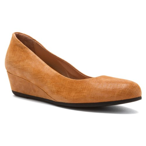French Sole Fs / Ny Womens Gumdrop Wedge Pump Cognac Cartizze