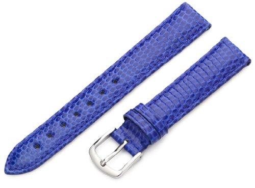 Blue Lizard Strap (Hadley-Roma Women's LSL715RF 150 15-mm Blue Genuine Java Lizard Watch Strap)