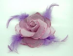 Jay - Joyero de 8,89 cm Color de rosa con plumas