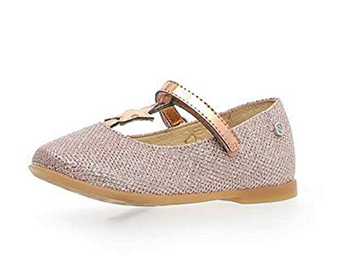 Naturino T-strap - Naturino Girl's Rose Gold Sparkle with Star T-Strap Mary Jane Flats with Hook and Loop Closure 25 M EU/ 9 M US Toddler