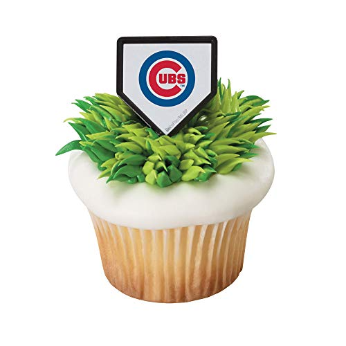Baking Addict Cupcake Topper Decorations Cake Pop Dessert Decorating Rings MLB Baseball Team Chicago Cubs, Wholesale Case of 864 (6 Packs of -