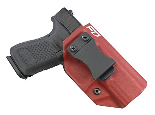 "Fierce Defender IWB (Inside Waistband) Kydex Holster Glock 19 23 32"" Winter Warrior Series -Made in USA- (Blood Red) GEN 5 Compatible!"