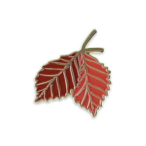 Forge Autumn Double Leaf Enamel Lapel Pin- 1 Pin (Oak Leaves Pin)