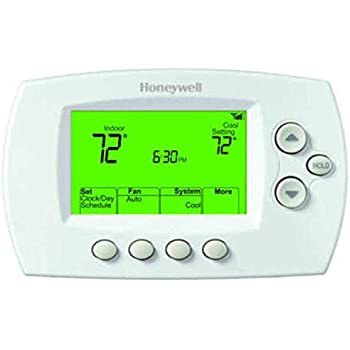 honeywell th6110d1005 focuspro 6000 programmable thermostat white rh amazon com Honeywell Programmable Thermostat Honeywell Thermostat Reset