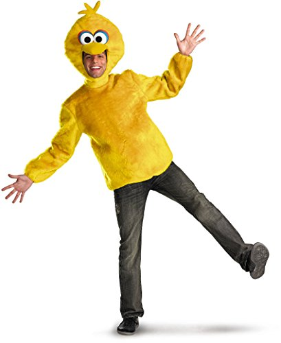 Big Bird Costume For Men (Disguise Unisex Adult Male Big Bird, Yellow, X-Large (42-46) Costume)