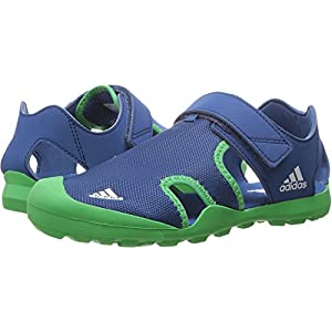 adidas Outdoor Kids' Captain Toey Water Shoe, Core Blue/Energy Green/White, 1 M US Little Kid