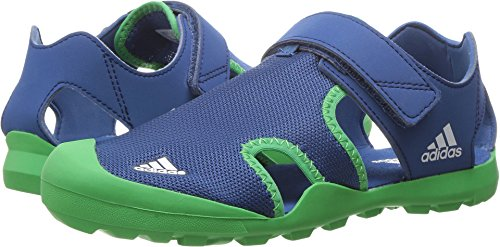 adidas Outdoor Kids' Captain Toey Water Shoe, Core Blue/Energy Green/White, 2 M US Little Kid