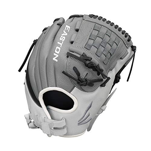 "EASTON SLATE Fastpitch Softball Glove   2020   Right-Hand Throw   Female Athlete Design   12""   Pitcher / Infield Glove   Split Woven Web   Diamond Pro Steer Leather   Quantum Closure   SL1201FP"