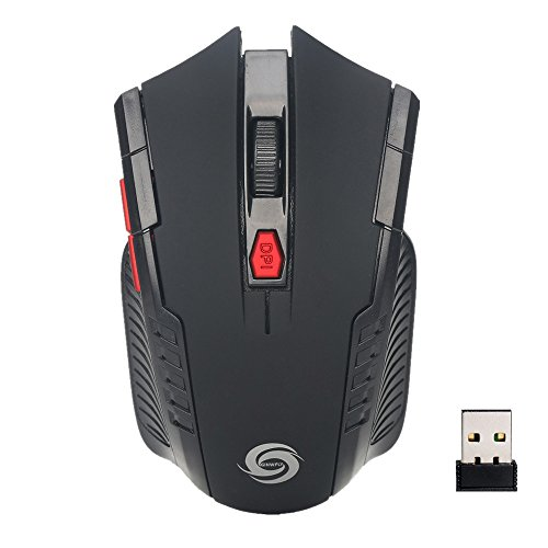 Jonerytime2.4Ghz Mini Wireless Optical Gaming Mouse Mice& USB Receiver for PC Laptop (Black)