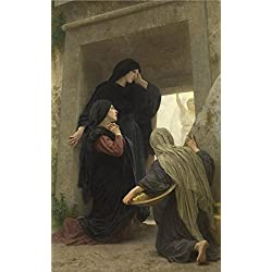 The Polyster Canvas Of Oil Painting 'William Adolphe Bouguereau,Holy Women By The Grave,1825-1905' ,size: 8x13 Inch / 20x33 Cm ,this Vivid Art Decorative Canvas Prints Is Fit For Home Theater Decor And Home Decoration And Gifts