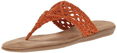 Aerosoler Kvinna Chlip Konst Sandal Orange Tyg