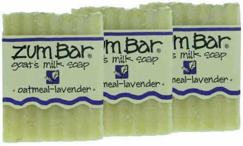 Indigo Wild: Zum Bar Goat's Milk Soap Bar, Oatmeal Lavender 3 oz (3 pack)