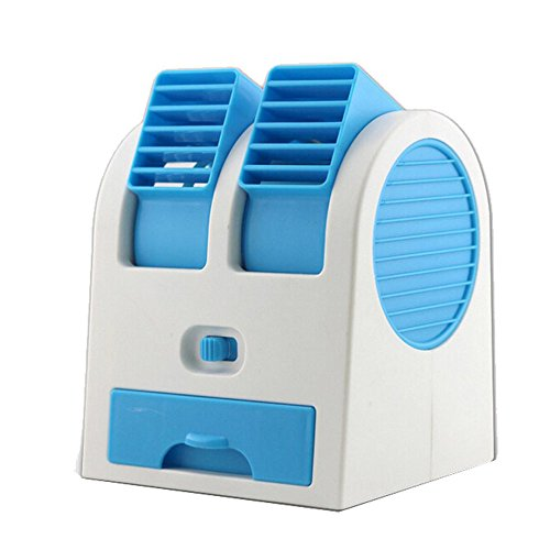 Mini Air Conditioner,FTXJ USB Portable Desktop Cooler Fan Rechargeable (Blue)