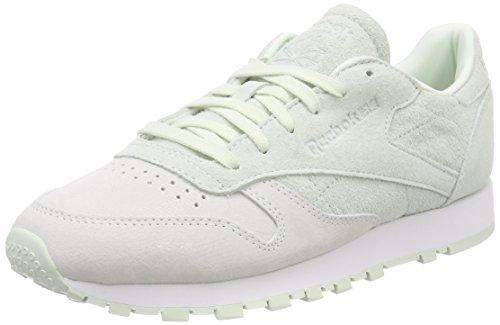 White Opal Reebok NBK Leather Classic Bianco Sneaker Donna wqYATqx1