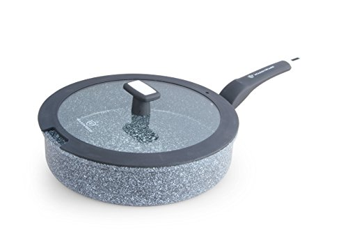 WaxonWare All In One (Fry,Saute,Bake,Boil) Pan With Stonetec (A 100% PTFE, PFOA and APEO Free) Ceramic Non-Stick Coating With Glass Lid (4.5-Quart / 11-Inch)