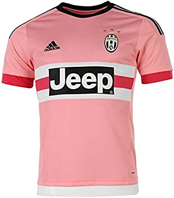 5f19b7a11 adidas FC Juventus Away Jersey 2015 2016 - Pink Bright Pink Black White  (S12846) SizeXL  Amazon.co.uk  Sports   Outdoors
