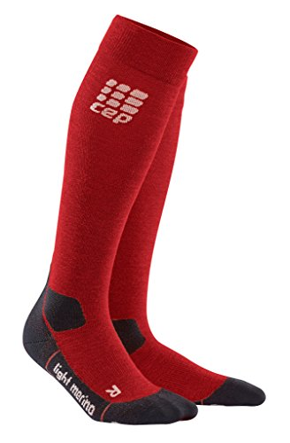 CEP Women's Progressive+ Outdoor Light Merino Socks, Size 3, Deep Magma