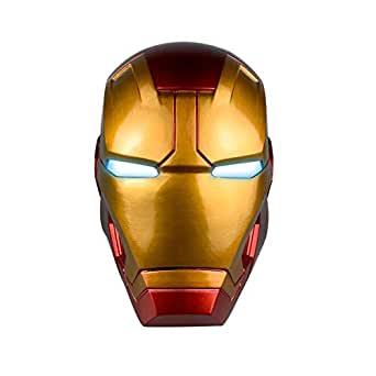 Haho Iron Man Helmet, Iron Man Full Head Mask with Eyes LED Light Costume Cosplay for Adult