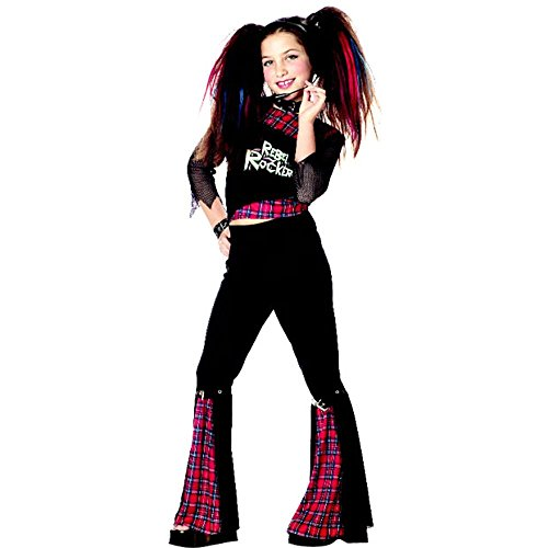 Child's Rebel Punk Rocker Girl Halloween Costume (Size: Medium (Punk Rocker Girl Halloween Costumes)