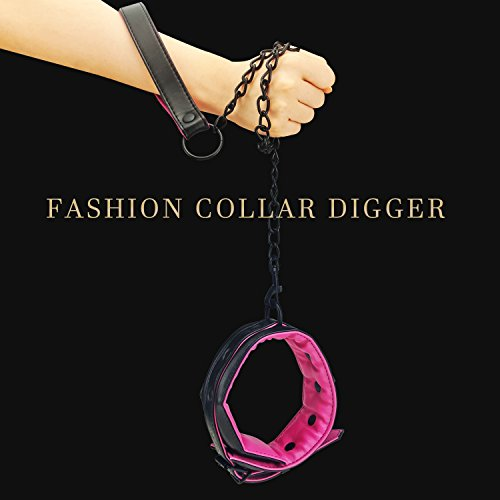 Leather Collar and Leash Neck Choker Adjustable Necklace with Chain Detachable For Men Women by KOL_Fashion (Image #1)