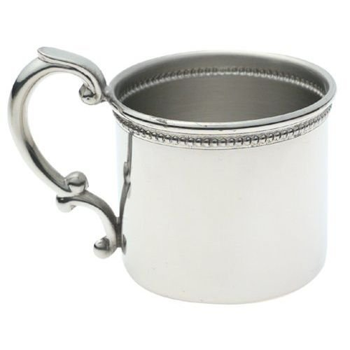 Empire Pewter Classic Beaded Baby Cup
