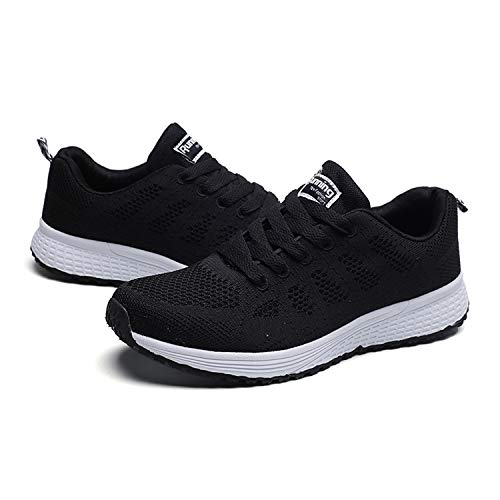 Men QZBAOSHU Sneakers Walking Shoes Lightweight Women Black rrq7dwf