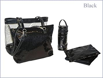 Amazon.com   2 in 1 Sequin Diaper Tote Bag (Color B Black)   Infant And  Toddler Apparel Accessories   Baby 21b5356dd2584