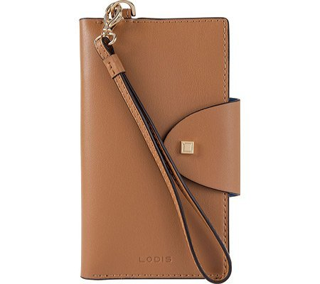 Lodis Blair Unlined Lynne Flap Cell Phone Case - Nutmeg/C...