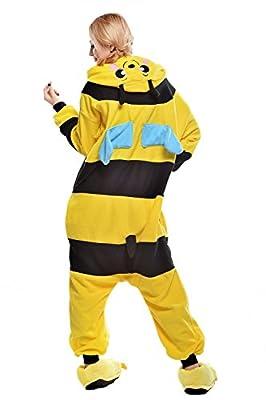Belife Unisex-Adult Halloween Onesie Pajamas Cosplay Costumes(S,Bee)