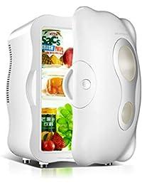 HM&DX Mini Fridge Cooler Warmer Thermoelectric 12 Cans Quiet Energy Efficient Space Capsule Mini Refrigerator Car Dorm Room Office-White 10L