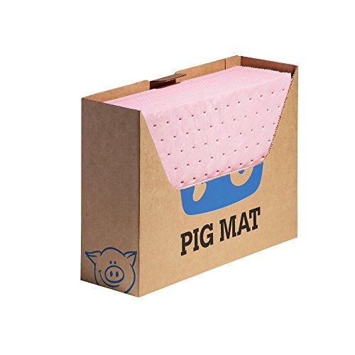 New Pig Hazmat Mat Pad in Bench Box Dispenser, Absorbs Hazardous Materials, Heavyweight, 12-Ounce Absorbency, 13