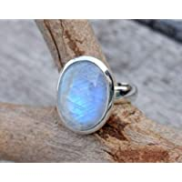 khamchanot New Fashion Womens Jewelry 925 Silver Rainbow Moonstone Wedding Engagement Ring (7)