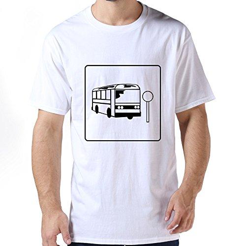 G1C11 Men's Bus Stop Icon Shirt,Cotton