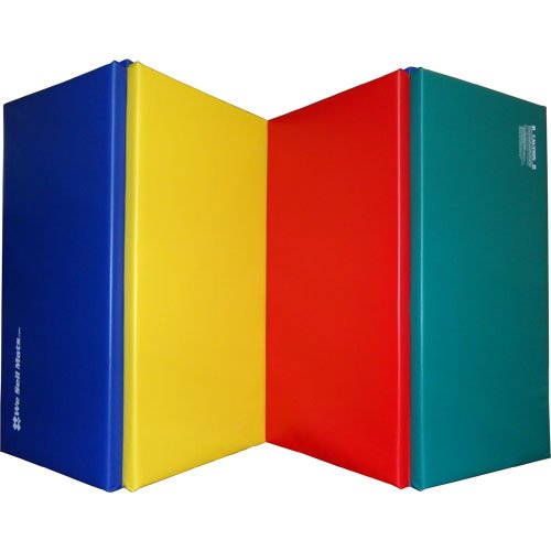 """We Sell Mats 1.5"""" and 2"""" Thick 4x8 Gymnastics Tumbling Exercise Folding Martial Arts Mats with Hook and Loop Fasteners on All 4 Sides Highest Quality Crosslink Polyethylene Foam Core"""