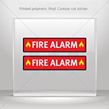 Sticker Fire Alarm Emergencies Signs Fire Alarm Tablet Laptop Durable (12 X 2.77 Inches)