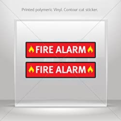 Sticker Fire Alarm Emergencies Signs Fire Alarm Tablet Laptop Durable (6 X 1.38 Inches)