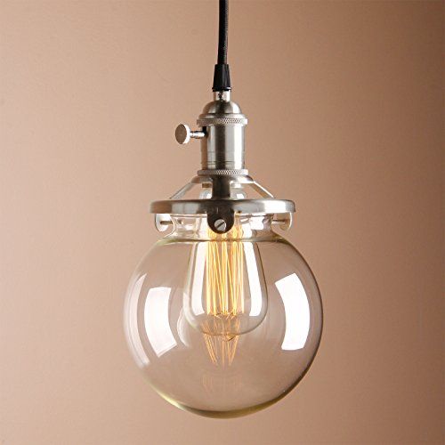 Blown Glass Globe Pendant Light