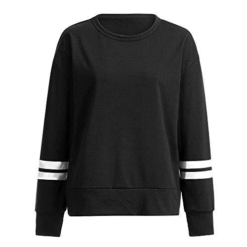 Hiver Rayures Uface Longues Blouse Tunique Tricot shirt Noir2 Pull T Manches Automne Lâche Femme Casual 0xafOq