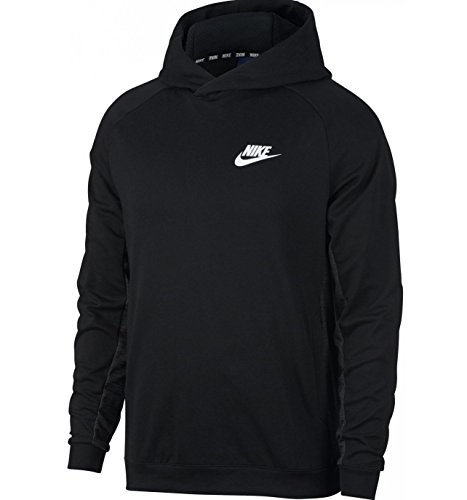 NIKE Men's Sportswear Advance 15 Hoodie Black/Dark Grey/White Size Large
