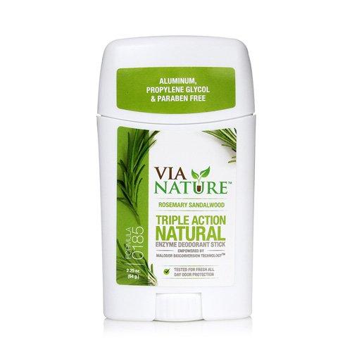 Via Nature Deodorant - Stick - Rosemary Sandalwood - 2.25 Oz (2.25 Ounce Units)