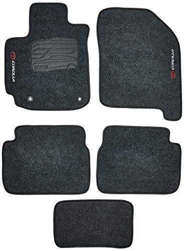 Kit de 5 peças, Tapete Carpete, Flash Acessórios, Corolla 09/12 Grafite (05 Peças)