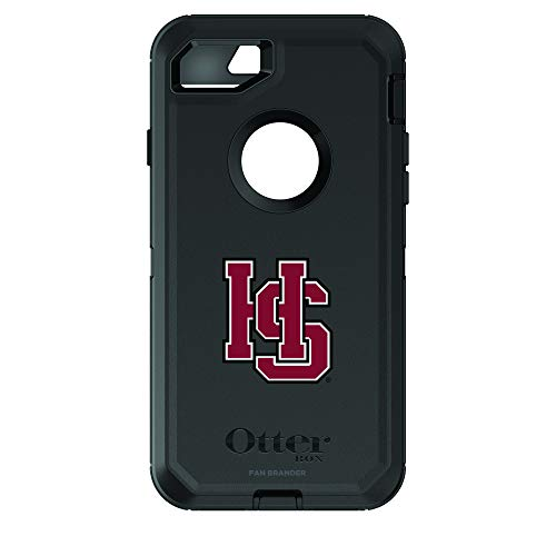Fan Brander NCAA Black Phone case with School Logo, Compatible with Apple iPhone 6 and Apple iPhone 6s and with OtterBox Defender Series (Hampden Sydney)