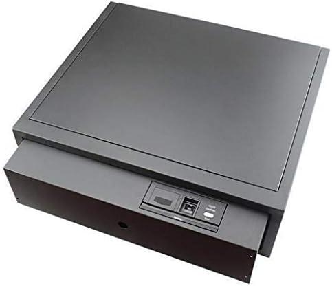 パーツボックス 安全な指紋認証ロック解除用ベッド引き出し金庫スーパーマーケットのチェックアウトカウンター商業現金内閣 (Color : Black, Size : 47.8*40.5*14.8cm)
